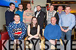 Enjoying the McElligotts Motors Christmas Party at Gallys on Saturday were.  Front l-r John Riordan, Ashling Carroll, Donal Lynch.  Back l-r Bernie Dineen, Darren Fuller, Brian O'Connor, John Patten, Tom Murphy, Jerry Brosnan, Tim Kerrisk