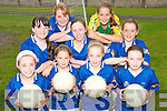 ON THE BALL: Young football stars from Glenbeigh enjoying the Kerry GAA VHI Cul Camp in Glenbeigh on Thursday last..Front row L/r. Jessie Griffin, Catriona Sheahan, Louise Casey..Second row l/r. Kayley Riordan, Shannon O'Shea, Mary Claire Teehan..Back L/r. Aimee Griffin and Saoirse Griffin.   Copyright Kerry's Eye 2008