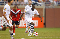 7 June 2011: Canada forward Simeon Jackson (17) and USA Men's National Team midfielder Maurice Edu (7) during the CONCACAF soccer match between USA and Canada at Ford Field Detroit, Michigan. USA won 2-0.