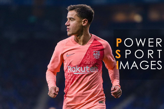 Philippe Coutinho of FC Barcelona in action during the La Liga 2018-19 match between RDC Espanyol and FC Barcelona at Camp Nou on 08 December 2018 in Barcelona, Spain. Photo by Vicens Gimenez / Power Sport Images