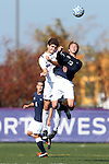 21 October 2012: Penn State's Owen Griffith (12) and Northwestern's Chris Ritter (behind). The Northwestern University Wildcats played the Penn State University Nittany Lions at Lakeside Field in Evanston, Illinois in a 2012 NCAA Division I Men's Soccer game. Penn State won the game 1-0 in golden goal overtime.