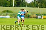 Listry Eoghan Darmody tackles Niall Donohue Firies  during their JFC clash in Kilcummin on Sunday