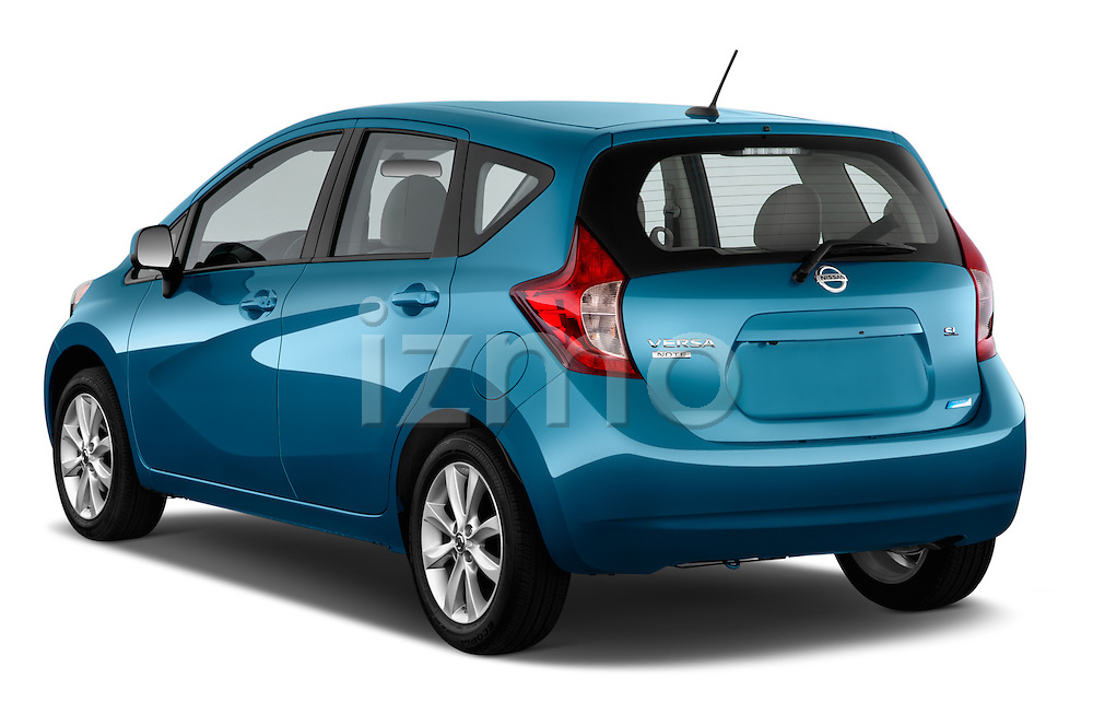 Rear three quarter view of a 2014 Nissan Versa Note SV SL Hatchback2014 Nissan Versa Note SV SL Hatchback