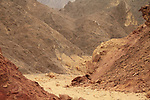 Israel, Eilat mountains, scenery at Amram valley