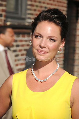 Katherine Heigl at the Ed Sullivan Theatre for an appearance on Late Show with David Letterman in New York City. May 20, 2010.Credit: Dennis Van Tine/MediaPunch