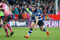 Chris Cook of Bath Rugby goes on the attack. Anglo-Welsh Cup Final, between Bath Rugby and Exeter Chiefs on March 30, 2018 at Kingsholm Stadium in Gloucester, England. Photo by: Matt Impey / Wired Photos for Onside Images