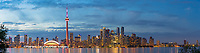 60912-00311 Toronto skyline at dusk from Toronto Island Park Toronto, Ontario Canada