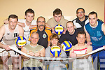Volleyball players who are looking for new members to join them in St Mary's Hall Killarney every Wednesday evening front row l-r: Waldemar Mika, Jolanta Mika, Robert Piasecki Killorglin. Back row: Slawomir Dembik Millstreet, Piotr Chierek Killarney, Wojtek Kondek Tralee, Dawid Karyta Tralee, Pawel Maciejewski, Julius Pawlowski and Dimitrij Sumigora Killorglin