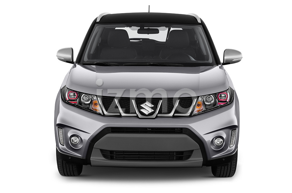 Car photography straight front view of a 2018 Suzuki Vitara GLX  S 5 Door SUV