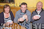 Having a great night out at the Poker Night in aid of Ardfert Branch of Kerry Hospice held in McElligot's Bar Ardfert on Friday night were l/r Eimear Dore, Ballyard, Declan Raggett, Bann and Michael O'Mahoney, Abbeydorney.................................................................................................................................................................................................................................................................................................. ............