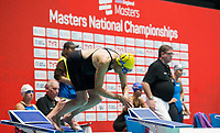 Picture By Allan Mckenzie/SWpix.com - 28/10/2017 - Swimming - Swim England Masters National Champs - Ponds Forge International Sports Centre, Sheffield, England - Jane Asher, the oldest competitor on the day at 86 about to compete in the Womens open 50m butterfly.