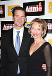 Sarah Solie & Guest attending the Broadway Opening Night Performance After Party for 'Annie' at the Hard Rock Cafe in New York City on 11/08/2012