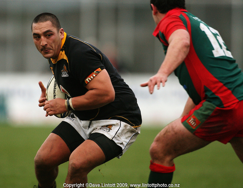 Wellington prop Arden David-Perrot during the Ranfurly Shield rugby match between the Wellington Lions and Wairarapa Bush at Trust House Memorial Park, Masterton, New Zealand on Saturday, 27 September 2008. Photo: Dave Lintott / lintottphoto.co.nz
