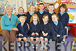 Junior infants pictured at Castledrum National School on Tuesday were Ava Murphy, Lara O'Dowd, Tara Ryan, Sarah Flynn, Suvi O'Connor, Lucy Griffin, Max Clifford, Cormac O'Brien, and Lara Evans with teacher Marian Prendergast.............................................................................................................
