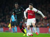 Arsenal Sead Kolasinac during the UEFA Europa League match between Arsenal and Rennes at the Emirates Stadium, London, England on 14 March 2019. Photo by Andrew Aleksiejczuk / PRiME Media Images.