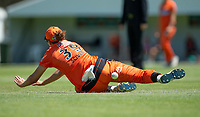 24th November 2019; Lilac Hill Park, Perth, Western Australia, Australia; Womens Big Bash League Cricket, Perth Scorchers versus Sydney Sixers; Natalie Sciver of the Perth Scorchers drops a catch in the outfield - Editorial Use