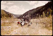 RGS #461 K-27 on northbound dismantling operation, likely north of Coke Ovens.<br /> RGS  Coke Ovens (near), CO  ca. 1952