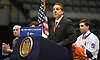 New York State Governor Andrew Cuomo addresses the media during a news conference at Nassau Coliseum on Monday, Jan. 29, 2018. Cuomo announced the site will host a portion of New York Islanders home games over the next three seasons as the team's new arena at Belmont is being constructed.