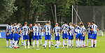 19.07.2019, Sportpark, Berlin, GER, 1.FBL, DFL,, Hertha BSC Mannschaftsfoto 2019-20,<br /> DFL, regulations prohibit any use of photographs as image sequences and/or quasi-video<br /> im Bild Cheftrainer (Head Coach) Ante Comic (Hertha BSC Berlin), Spielerkreis<br /> <br />       <br /> Foto © nordphoto / Engler