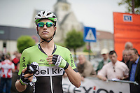 Theo Bos (NLD/Belkin) getting ready for the start<br /> <br /> Druivenkoers 2014<br /> Huldenberg - Overijse (Belgium): 196km