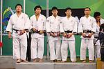 (L to R) Takeshi Ojitani, Masashi Nishiyama, Takahiro Nakai, Riki Nakaya, Masashi Ebinuma (JPN), .April 21, 2013 - Judo : .Asian Judo Championships 2013, Men's Team Competition Medal Ceremony .at Bangkok Youth Centre, Bangkok, Thailand. .(Photo by Daiju Kitamura/AFLO SPORT) [1045]