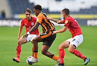Hull City's Mallik Wilks takes on the Crew Alexandra defence<br /> <br /> Photographer Dave Howarth/CameraSport<br /> <br /> The EFL Sky Bet League One - Hull City v Crewe Alexandra - Saturday 19th September 2020 - KCOM Stadium - Kingston upon Hull<br /> <br /> World Copyright © 2020 CameraSport. All rights reserved. 43 Linden Ave. Countesthorpe. Leicester. England. LE8 5PG - Tel: +44 (0) 116 277 4147 - admin@camerasport.com - www.camerasport.com