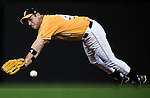 Republican shortstop Zach Wamp, R-Tenn., dives for a ground ball in the third inning of the Congressional Baseball Game at Nationals Stadium in Washington on June 17, 2009.
