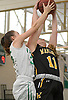 Angela Labenberg #11 of Wantagh, right, and Katelyn Winter #35 of Seaford battle for a rebound during a non-league varsity girls basketball game at Seaford High School on Friday, Dec. 29, 2017. Seaford won by a score of 65-56.