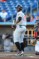 Wisconsin Timber Rattlers outfielder Victor Roache #28 during a game against the Quad Cities River Bandits on May 24, 2013 at Modern Woodmen Park in Davenport, Iowa.  Quad Cities defeated Wisconsin 4-3  (Mike Janes/Four Seam Images)