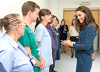 12 June 2017 - Princess Kate, Duchess of Cambridge and Dr Mark Haden at Kings College Hospital in south London to meet staff and patients who were affected by the terrorist attacks in London Bridge and Borough Market London. Photo Credit: ALPR/AdMedia