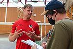 Ludwigshafens Christian Klimek (Nr.69) im Interview mi Reiner Bohlander beim ersten Training in der Saison 2020/2021.<br /> <br /> Foto © PIX-Sportfotos *** Foto ist honorarpflichtig! *** Auf Anfrage in hoeherer Qualitaet/Aufloesung. Belegexemplar erbeten. Veroeffentlichung ausschliesslich fuer journalistisch-publizistische Zwecke. For editorial use only.