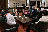 An Inconvenient Sequel: Truth to Power (2017)<br /> Tacloban Councilor Cristina Romualdez, Philippines Senator Loren Legarda, Al Gore, Climate Leadershi[p Trainee John Leonard Chan at a meeting in Tacloban, Philippines prior to the 31st Climate Reality Leadership Corps Training<br /> *Filmstill - Editorial Use Only*<br /> CAP/FB<br /> Image supplied by Capital Pictures