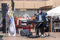 - Milano, festa tributo per l'intitolazione al musicista e cantautore Enzo Jannacci della Casa per l'Accoglienza per i senzatetto in viale Ortles. Il musicista e cantautore Vinicio Capossela<br /> <br /> - Milan feast tribute for the dedication to musician and singer-songwriter Enzo Jannacci of House for Reception of  homeless in Ortles avenue. The musician and singer-songwriter Vinicio Capossela
