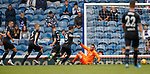 21.07.2019: Rangers v Blackburn Rovers: Rangers defenders look on as the ball breaks to Lewis Travis to equalise