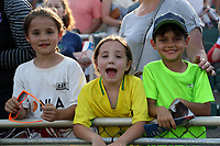 Cary, North Carolina  - Saturday April 29, 2017: Courage fans during a regular season National Women's Soccer League (NWSL) match between the North Carolina Courage and the Orlando Pride at Sahlen's Stadium at WakeMed Soccer Park.