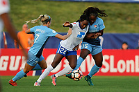 Piscataway, NJ - Saturday August 26, 2017: Game action during a regular season National Women's Soccer League (NWSL) match between Sky Blue FC and the Boston Breakers at Yurcak Field.  Sky Blue took an early lead on Sam Kerr's record-tying goal, and hung on for a 1-0 win.