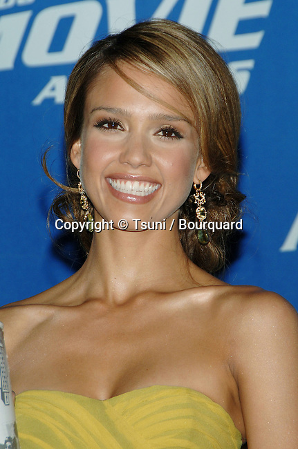 Jessica Alba in the press room at the MTV Movie Awards at the Sony Lot in Los Angeles. June 3, 2006.