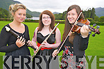 Katie McAulliffe, Alice O'Connor and Niamh O'Raw pictured at the Killarney Rotary Club Young Musician of the Year summer showcase held in Muckross House on Thursday evening.