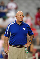 Sept. 27, 2009; Glendale, AZ, USA; Indianapolis Colts special teams coordinator Ray Rychleski against the Arizona Cardinals at University of Phoenix Stadium. Indianapolis defeated Arizona 31-10. Mandatory Credit: Mark J. Rebilas-
