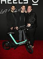 14 March 2019 - Los Angeles, California - Joshua Viner, Jonathan Viner, Jeff Beacher. Launch of Wheels with DJ Chantel Jeffries held at Sunset Tower. Photo Credit: Faye Sadou/AdMedia