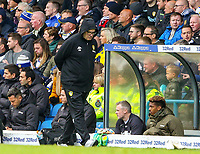 Leeds United manager Marcelo Bielsa paces the touchline after his side went 1-0 down<br /> <br /> Photographer Alex Dodd/CameraSport<br /> <br /> The EFL Sky Bet Championship - Leeds United v Brentford - Saturday 6th October 2018 - Elland Road - Leeds<br /> <br /> World Copyright &copy; 2018 CameraSport. All rights reserved. 43 Linden Ave. Countesthorpe. Leicester. England. LE8 5PG - Tel: +44 (0) 116 277 4147 - admin@camerasport.com - www.camerasport.com