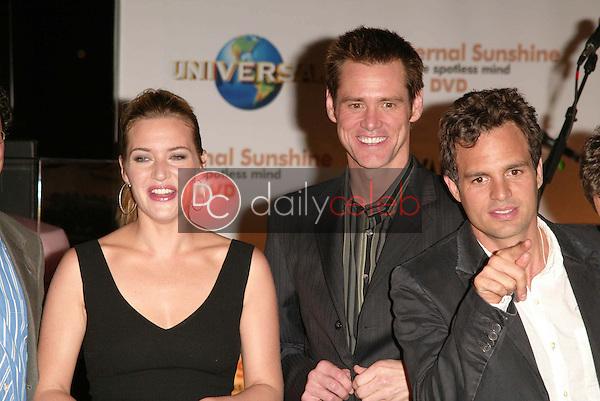 Kate Winslet, Jim Carrey and Mark Ruffalo