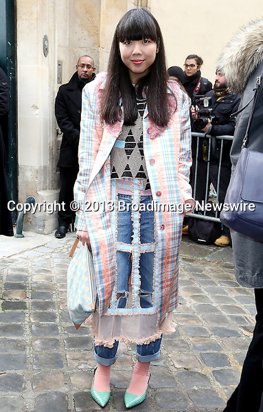 Pictured: Susie Bubble<br /> Mandatory Credit &copy; AFFR/Broadimage<br /> Christian Dior:  Paris Fashion Week - Haute Couture S/S 2014 - Outside Arrivals<br /> <br /> 1/20/14, Paris, , France<br /> <br /> Broadimage Newswire<br /> Los Angeles 1+  (310) 301-1027<br /> New York      1+  (646) 827-9134<br /> sales@broadimage.com<br /> http://www.broadimage.com<br /> <br /> <br /> Pictured: Susie Bubble<br /> Mandatory Credit &copy; AFFR/Broadimage<br /> Christian Dior:  Paris Fashion Week - Haute Couture S/S 2014 - Outside Arrivals<br /> <br /> 1/20/14, Paris, , France<br /> Reference: 012014_BDG_AFFR_DF_038<br /> <br /> Broadimage Newswire<br /> Los Angeles 1+  (310) 301-1027<br /> New York      1+  (646) 827-9134<br /> sales@broadimage.com<br /> http://www.broadimage.com
