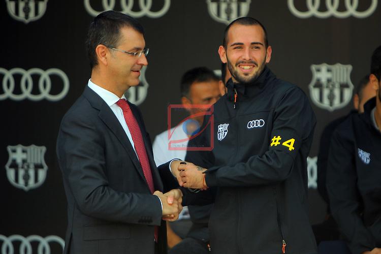 AUDI Premium Partner del FC Barcelona.<br /> Guillermo Fadda &amp; Aleix Vidal.