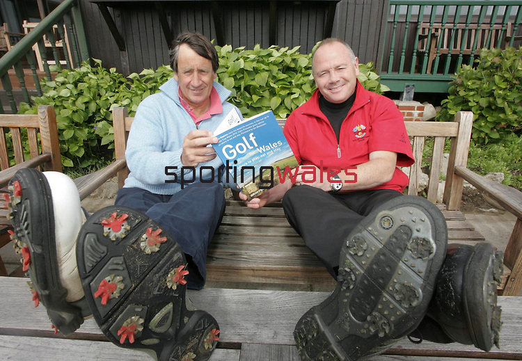 Golf In Wales - Author John Hopkins and Ieuan Evans..Royal Porthcawl.18.05.07.©Steve Pope.Sportingwales.The Manor .Coldra Woods.Newport.South Wales.NP18 1HQ.07798 830089.01633 410450.steve@sportingwales.com.www.fotowales.com.www.sportingwales.com
