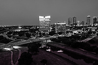 Fort Worth Skyline BW - Another aerial capture of the Fort Worth skyline in black and white. Love the lights on the seventh street bridge which connects the University area with the downtown across the Trinity River. Fort Worth is the fifth largest city in Texas. Ft Worth is located in central north part of Texas and the county seat is Tarrant County. The latest census is that the population for Fort Worth is estimates, at around 854,113. The city is the second-largest in the Dallas–Fort Worth–Arlington metropolitan area or the DFW Metro