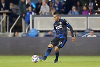 San Jose, CA - Saturday April 08, 2017: Darwin Ceren  during a Major League Soccer (MLS) match between the San Jose Earthquakes and the Seattle Sounders FC at Avaya Stadium.