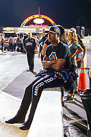 Aug 31, 2018; Clermont, IN, USA; NHRA top fuel driver Antron Brown during qualifying for the US Nationals at Lucas Oil Raceway. Mandatory Credit: Mark J. Rebilas-USA TODAY Sports