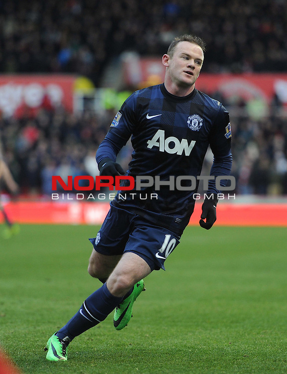 Manchester United's Wayne Rooney -  01/02/2014 - SPORT - FOOTBALL - Britannia Stadium - Stoke-On-Trent - Stoke v Manchester United - Barclays Premier League<br /> Foto nph / Meredith<br /> <br /> ***** OUT OF UK *****