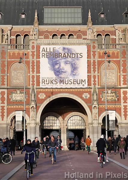 Nederland Amsterdam - 2019. Het Rijksmuseum in Amsterdam. Tentoonstelling Alle Rembrandts. Foto Berlinda van Dam / Hollandse Hoogte